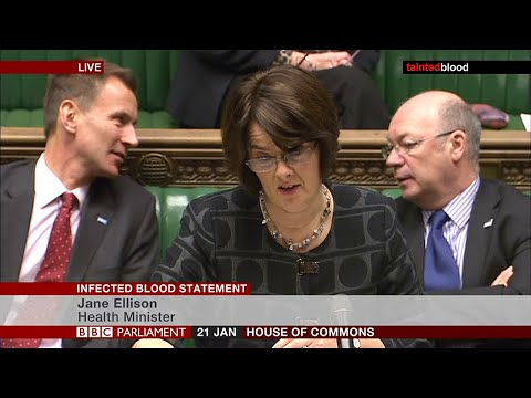 Infected Blood Statement : House of Commons - 21st January 2016