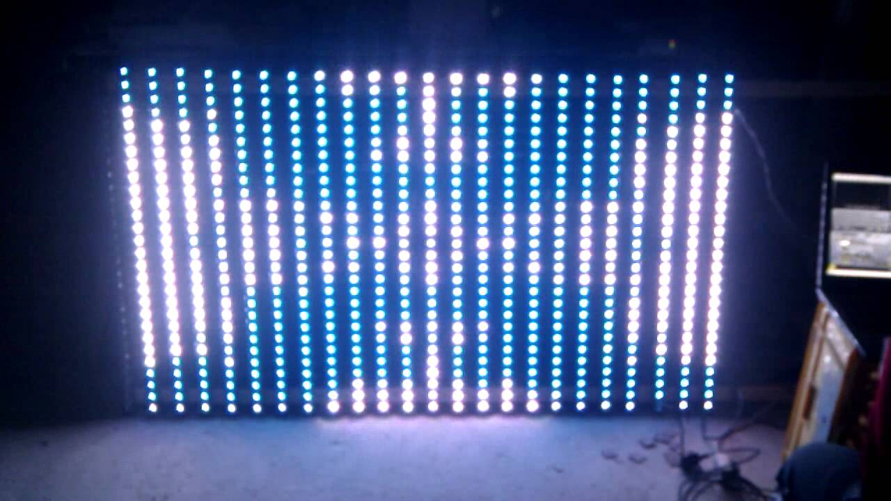 Arduino led display using artnet and ws tubes
