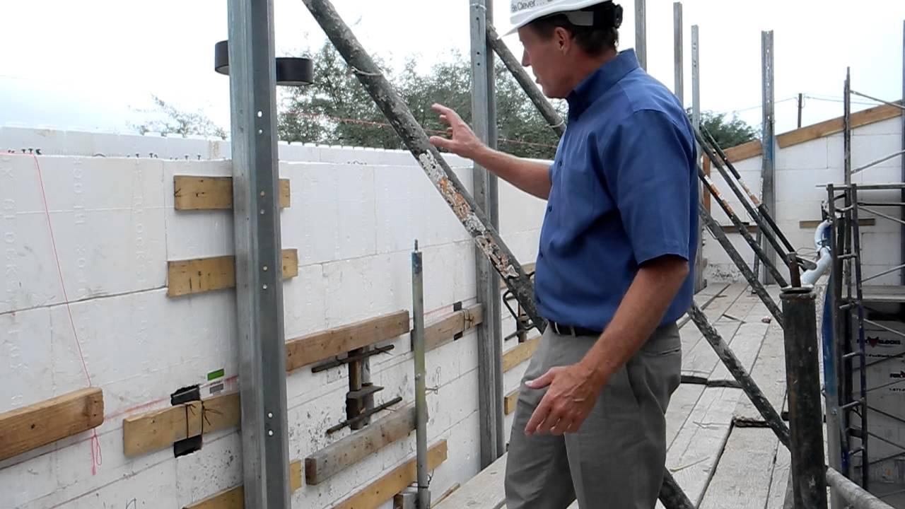 Fox Blocks Masonry Scaffold Hybrid Insulated Concrete