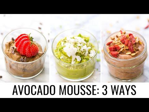 VEGAN AVOCADO MOUSSE 3 ways | Healthy Dessert Ideas