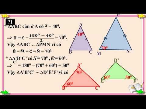 Toán học lớp 8 – Bài 6 – Trường hợp đồng dạng thứ hai của tam giác, hướng dẫn powerpoint,