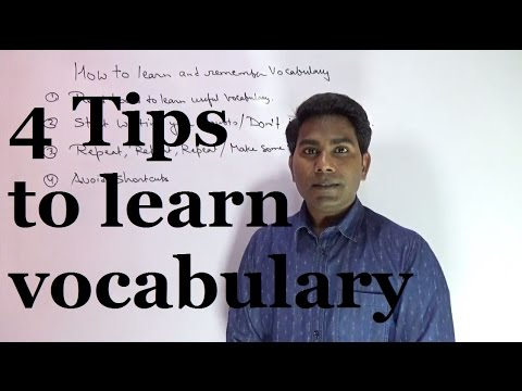 4 Tips to learn and remember vocabulary