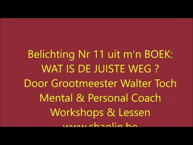 Artikel 12 uit m'n BOEK Wat is de juiste weg door GM Walter Toch