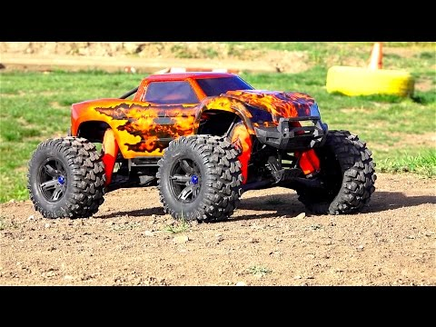 RC ADVENTURES - SiCKEST Monster RC Truck Body I've ever seen! Unboxing a Double Flame Traxxas X-MAXX