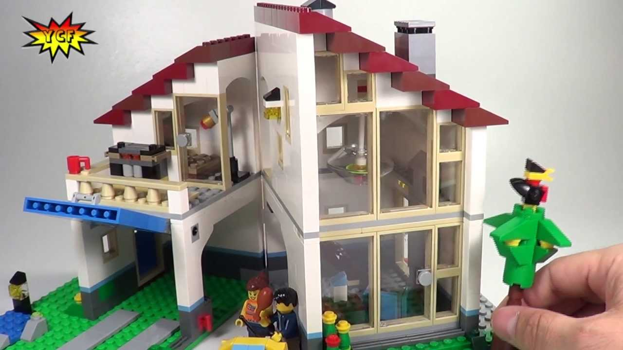 Good LEGO Family House Review   2013 CREATOR Summer Set   LEGO 31012   YouTube Part 18