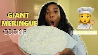 DIY GIANT MERINGUE COOKIE IN THE MICROWAVE|Island Vibe Cooking