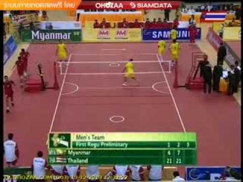 ตะกร้อชายไทย-เมียนมาร์ ซีเกมส์ 2013