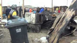 Khayelitsha residents were left angry and frustrated after a shack fire on the evening of Sunday 1 July 2012 left more than 60 people homeless. Aletta Gardner reports.