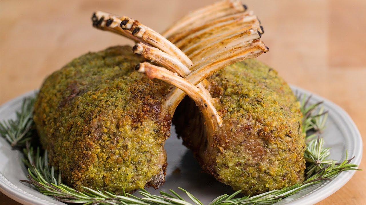 maxresdefault - Rosemary Garlic Crusted Roast Rack of Lamb