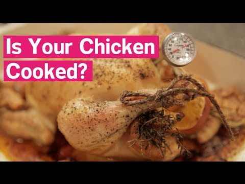 How To Check A Roasted Chicken's Temperature - YouTube