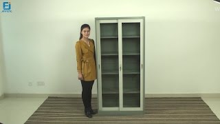 Sliding Door Cabinet Glass Door Cupboard Metal Cupboard