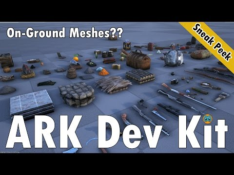 ARK Dev Kit Sneak Peek | on-ground meshes for dropped items!!