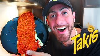 DIY GIANT TAKIS MOZZARELLA STICK!