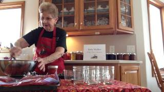 How to Freeze Strawberry Jam  By Betty Walker  Walker farms