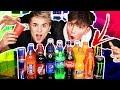 *MYSTERY* SODA TASTE TEST CHALLENGE VS JAKE MITCHELL!!! 😱 (Coca Cola, Sprite, Fanta)