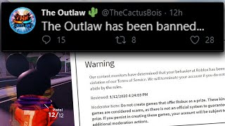 Jailbreak Copy BANNED for STEALING Code... (Roblox The Outlaw)
