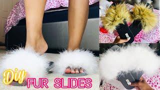 DIY FUR SLIDES (Under $15 & Super Easy!) | Mo Styles