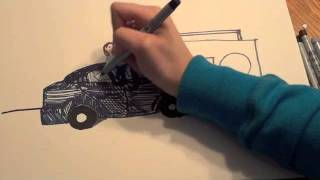 Stereo Hearts Sharpie Speed Drawing