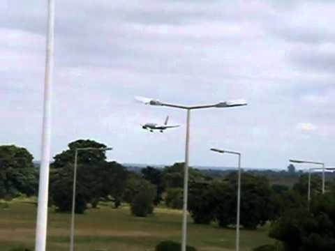 Terrace view landing of Kenya Airways Lilongwe