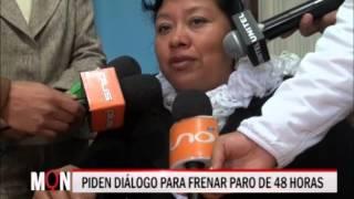 27-07-2015 - 17:18 PIDEN DIÁLOGO PARA FRENAR PARO DE 48 HORAS