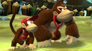 Donkey Kong Country Tropical Freeze Co-op Walkthrough - World 3 - Bright Savannah (All Collectibles)