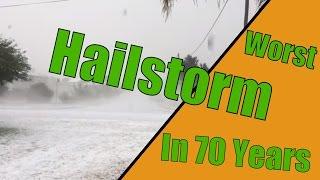 Hailstorm hitting Killarney