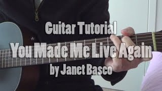"Guitar Tutorial: ""You Made Me Live Again"" by Janet Basco Fingerstyle Tutorial (free tabs) Cover"
