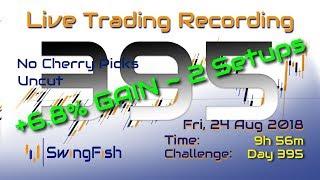 LIVE Day Trading Forex & CFD [Fri 24 Aug 2018 | +6.799% | 2 Setups]