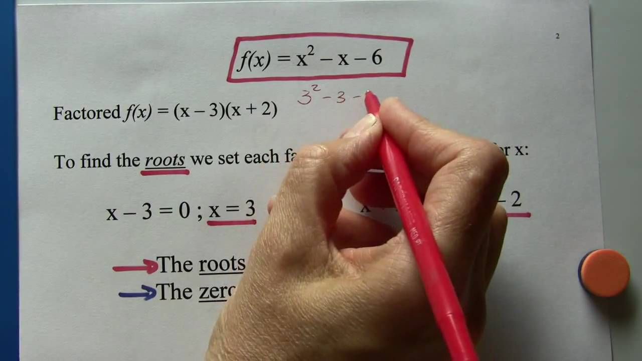 Algebra Ii: Roots, Zeros, Factors, Solutions And Xintercepts Of Polynomial  Functions  Youtube