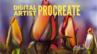 Liverpool Art Society -Digital Artist Procreate Roses