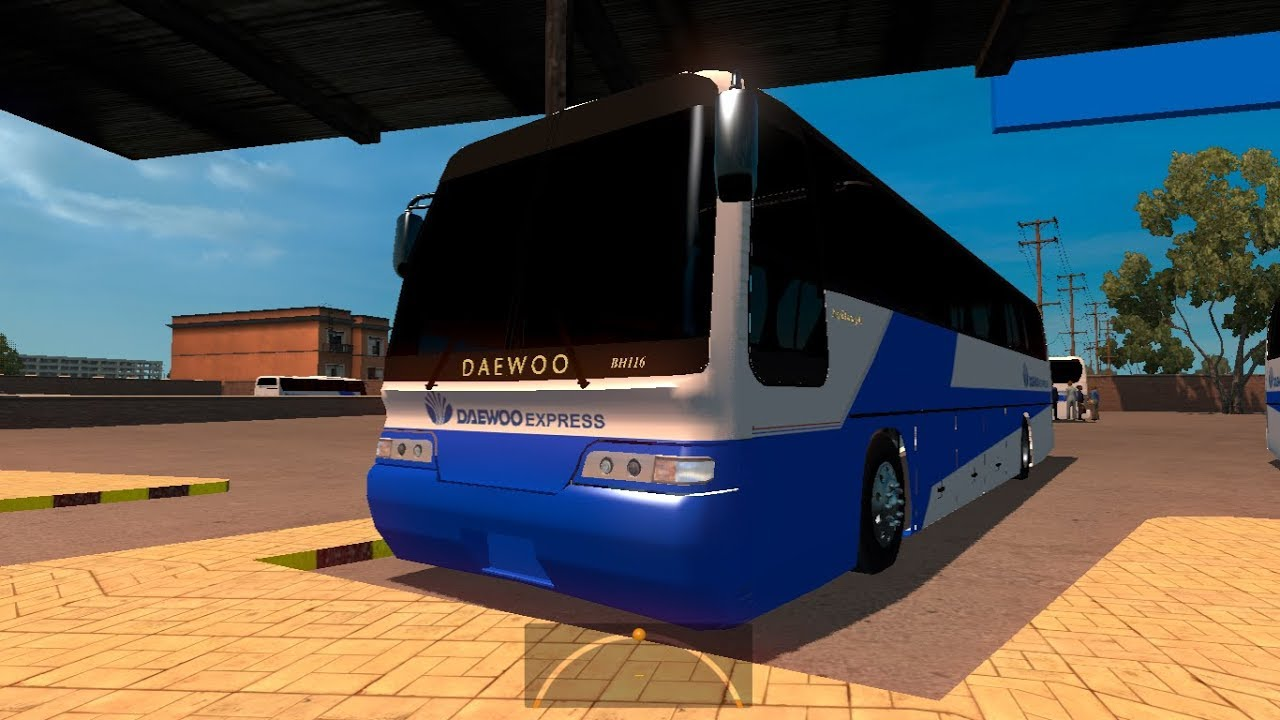 stani Daewoo Buses in Video Game - ATS Bus Mods - YouTube