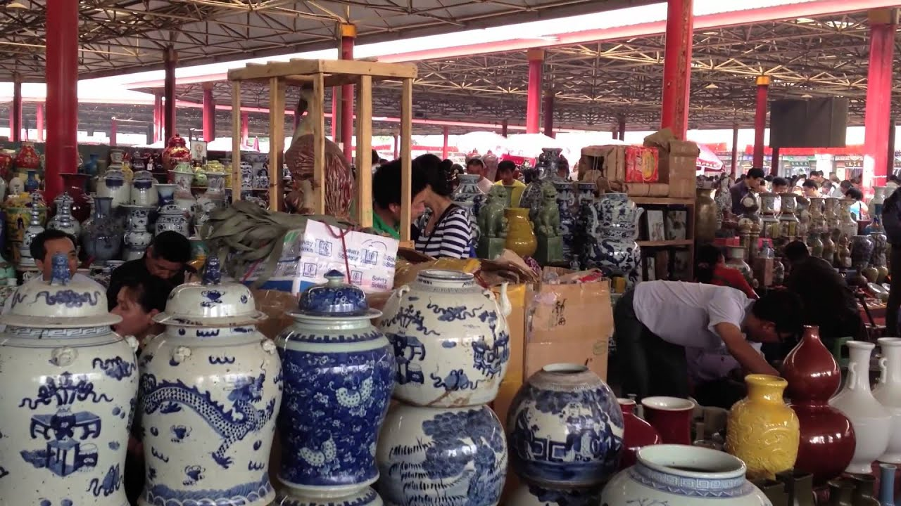 Chinese fake antique market porcelain reproduction market for Antique marketplace