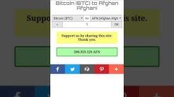 AFN to Bitcoin, Bitcoin to AFN