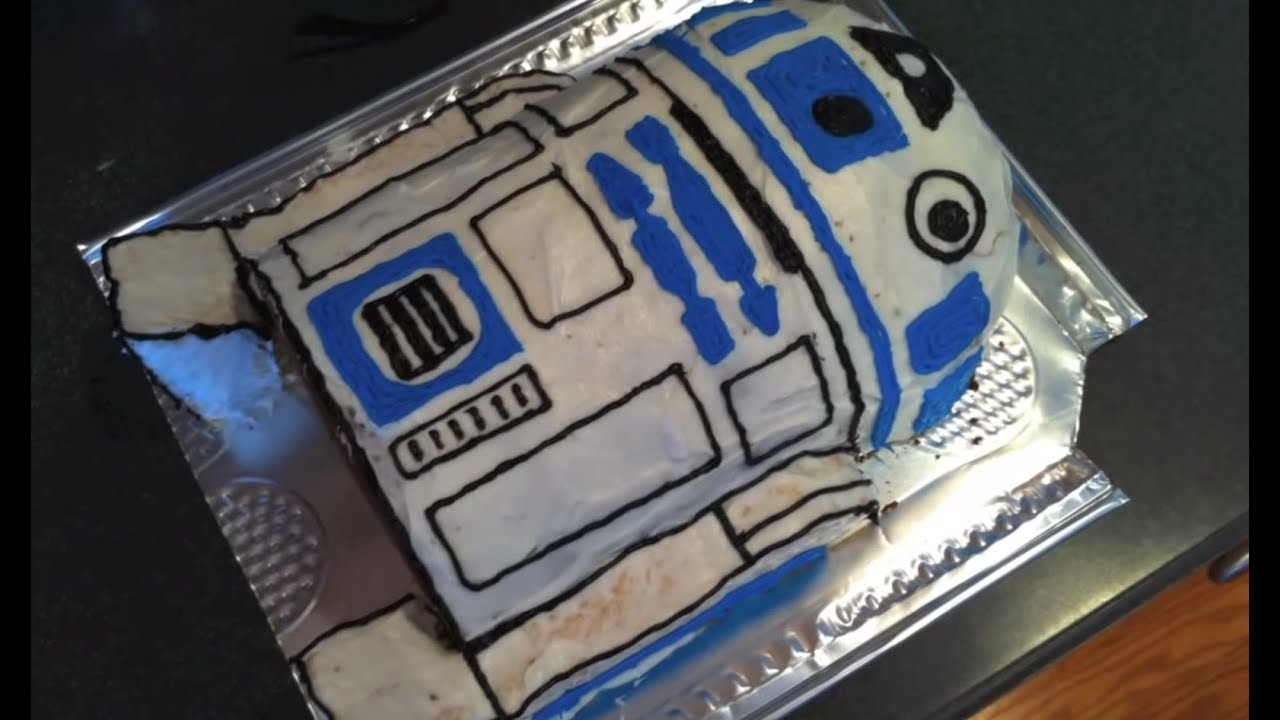 R2d2 Cake The Making Of Youtube