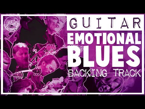 Emotional Blues Backing Track in A Minor