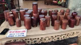 Hộp đựng trà(chè) gỗ cẩm lai liền khối(Đồ gỗ thành luân)12-7-2017