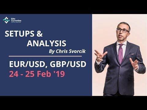 EUR/USD, GBP/USD Analysis & Setups 24 - 25 Feb '19