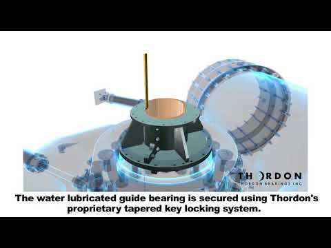 Hydro Turbine Main Guide Bearing Conversion by Thordon