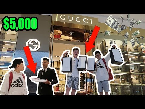 GUCCI BUY ANYTHING CHALLENGE! FT. CHRISTIAN LALAMA