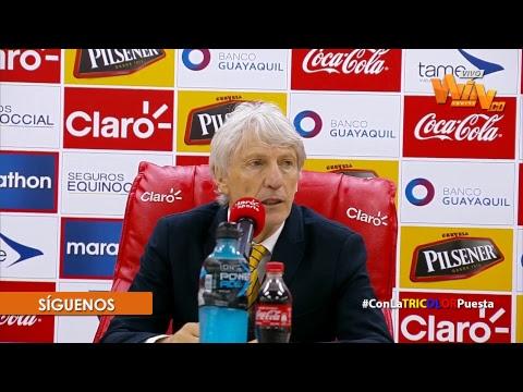 EN VIVO rueda de prensa de José Pekerman luego de la victoria de Colombia 0-2 frente a Ecuador