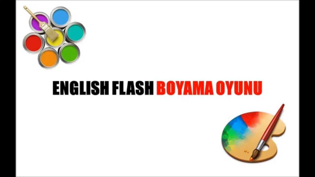 English Flash Boyama Oyunu Youtube