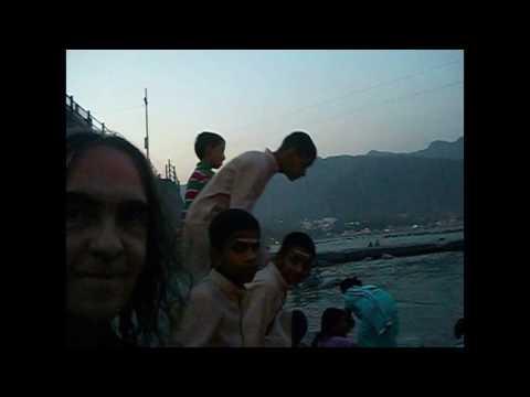 Arati Arsha Vidya Swami Dayananda Mahatma Krishananda Rishikesh Himalayas 2016 www.MahatmaJi.org