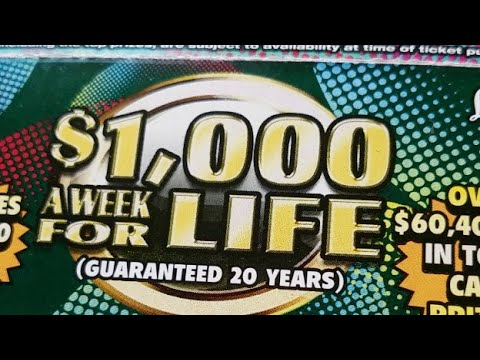 $1,000 A Week For Life - Scratch Off LIVESTREAM