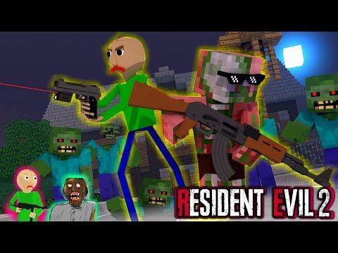 Monster School : BALDI'S VS RESIDENT EVIL 2 HOROR - Minecraft Animation