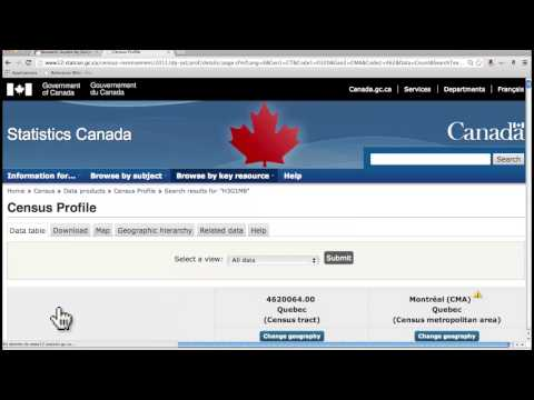 Statistics Canada: Census Walk-through With Olivier Charbonneau, Concordia Business Librarian