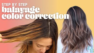 Color Correction (Fixing Balayage Gone Wrong!)