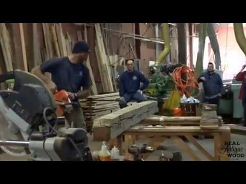 Making a Hollow Fireplace Mantel - Real Antique Wood