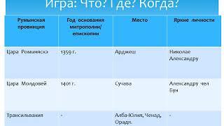 Открытый урока по истории румын и всеобщей истории, в 6 классе
