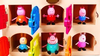 Learn Colors with Peppa Pig Toys for Children and Kids