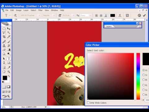 Photoshop CS2 - Phan 21 - Bai 5 - Thiet ke thiep bao li xi